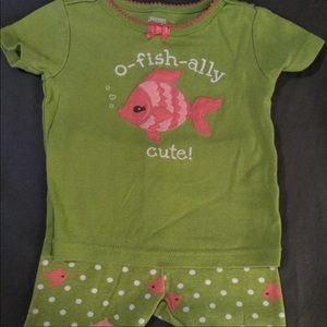 Adorable Gymboree fishie set 6-9 months